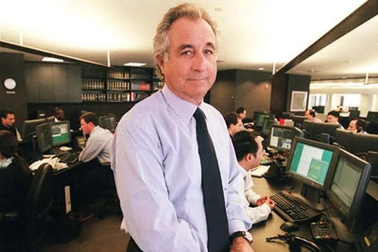 Bernard L. Madoff, chairman of Madoff Investment Securities, is seen on his Manhattan trading floor in this photo taken in 1999 in New York. (AP Photo/The New York Times, Ruby Washington)