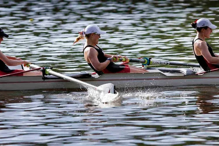 The Radnor girls' senior eight sprints to the finish for the first senior eight victory in the team's 15-year history.