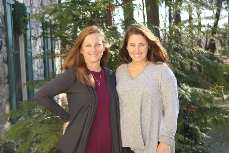 Denise Teter with her daughter Victoria, who shares her genetic predisposition to colon cancer.