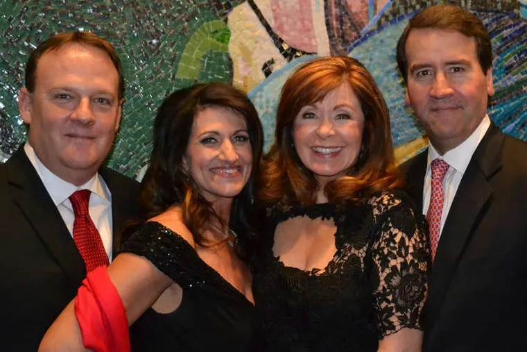 (From left) Lee Laurendeau, Dina Mathews, Adrienne Kirby, and Charles Reinhart at the Red Hot Gala.