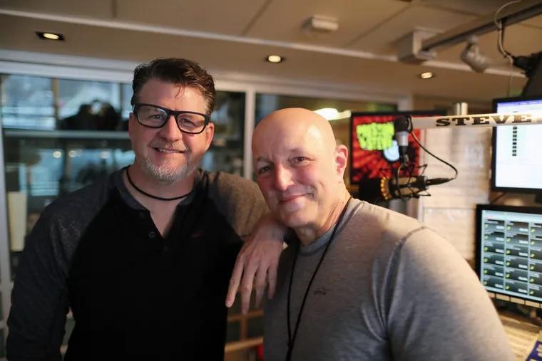 """Preston Elliot (left) and Steve Morrison from WMMR's """"Preston & Steve."""""""