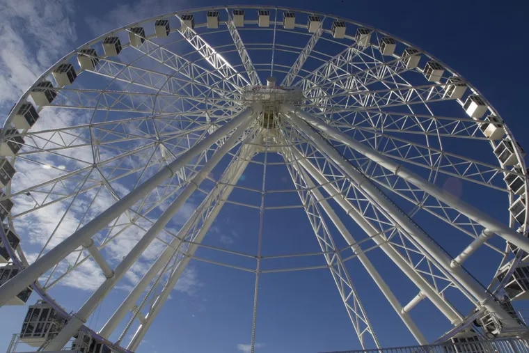 Atlantic City' new attraction, the Observation Wheel on the Steel Pier, was opened to the public Tuesday, December, 26, 2017. The wheel offers riders  birds-eye views of the Jersey Shore resort's skyline and the ocean.