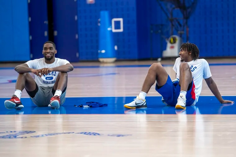 Shake Milton, left, and Tyrese Maxey are the Sixers' point-guard tandem.