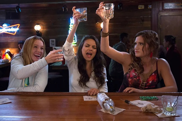 """Overtaxed and rebelling: """"Bad Moms"""" - starring (from left) Kristen Bell,Mila Kunis, and Kathryn Hahn - from the creators of """"The Hangover."""""""