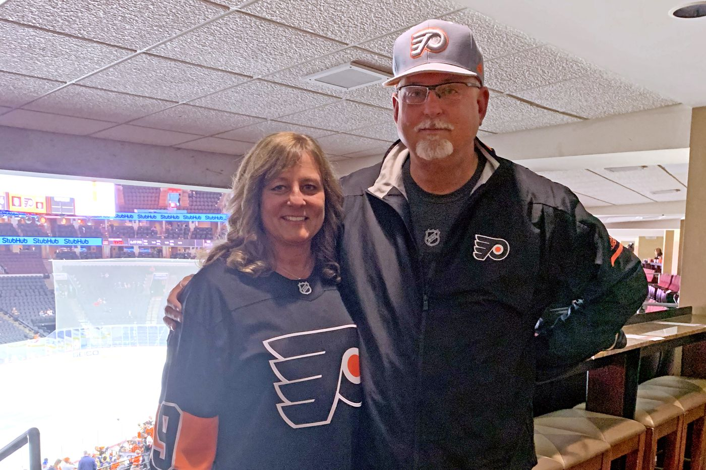 Flyers rookie Joel Farabee had two special guests at his NHL debut