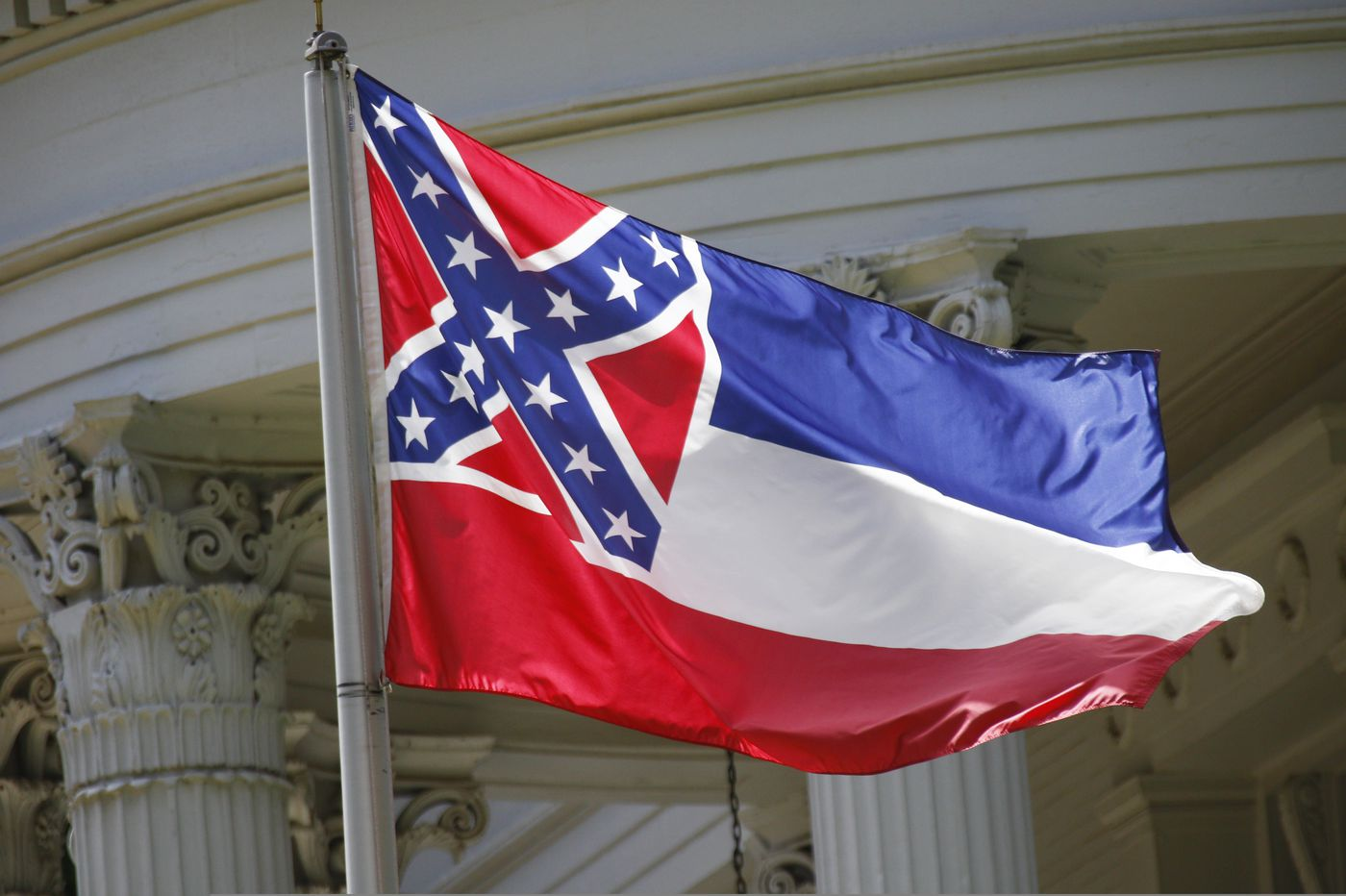 Mississippi flag with Confederate emblem ordered out of N.J. park near Statue of Liberty