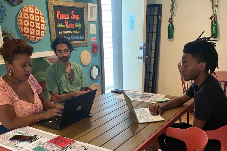 Participants train in the Philadelphia-based Womanist Working Collective's time bank program in summer 2021.
