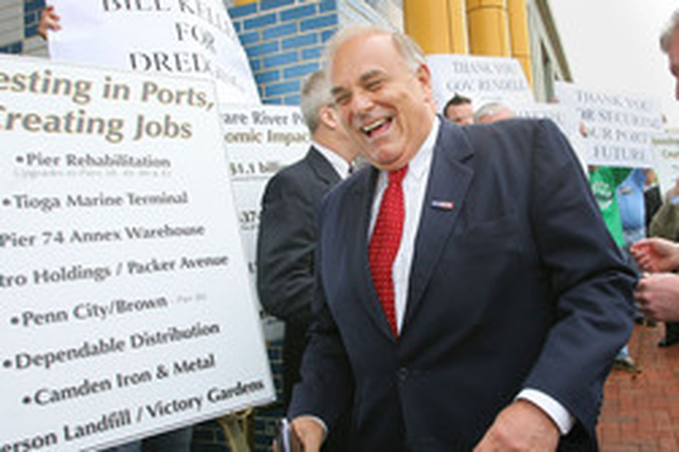 Rendell dredges up support for ports