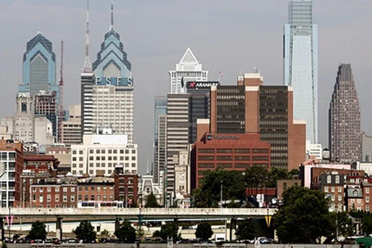 The Philadelphia skyline taken from Camden, New Jersey. (AP Photo/Tom Mihalek, File)