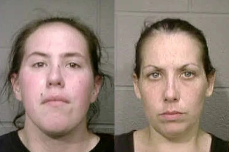 Accused of stealing military grave markers from a Cinnaminson cemetery (from left): Arielle Levin of Palmyra, Jamie  Babcock of Bellmawr, and Tosha M. Fugett of Riverside (not pictured).