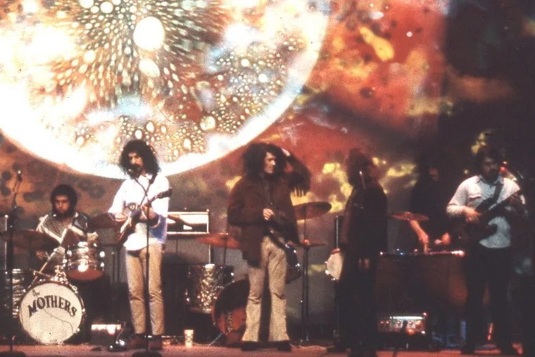 Frank Zappa in his heydey with the Mothers of Invention, at the Fillmore East in New York in 1971.