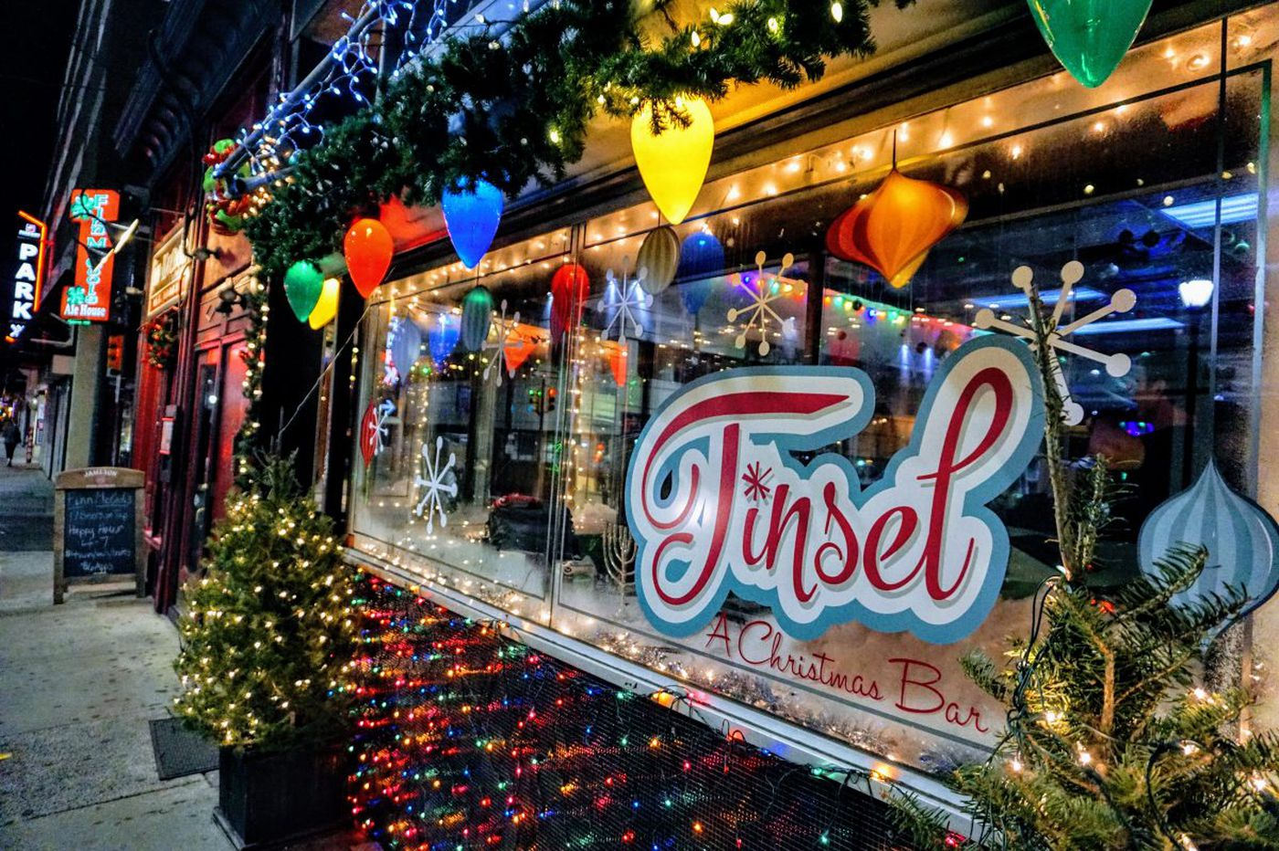 Christmas pop-up bar in Midtown Village