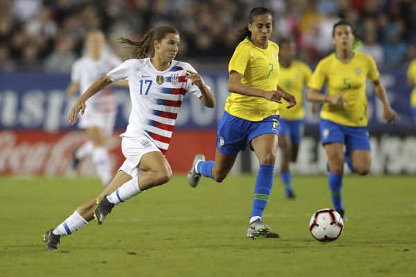 Tobin Heath, Sam Mewis lead USWNT to 1-0 win over Brazil in SheBelieves Cup