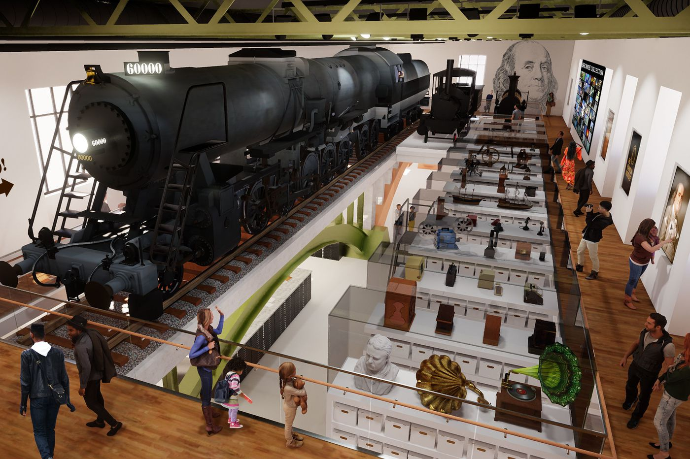 Franklin Institute locomotive is going to perch overhead in a $6 million train room renovation