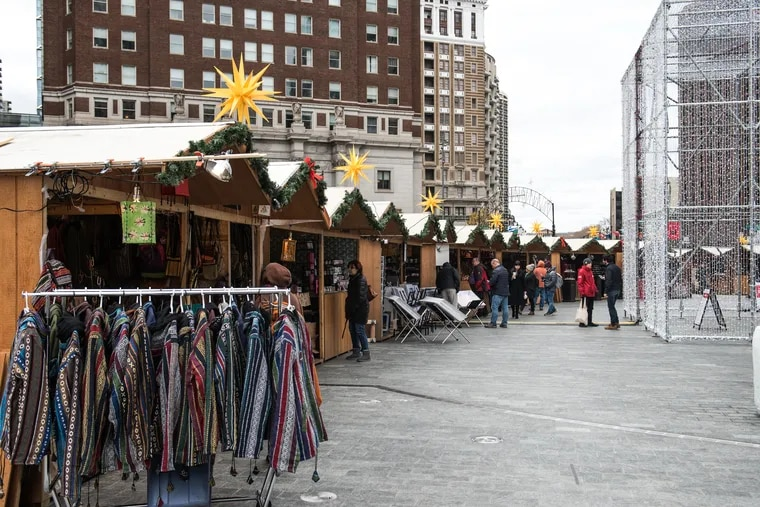 Shop at more than 80 booths and vendors at this year's Christmas Village in LOVE Park.