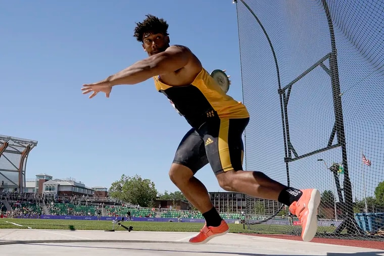 Sam Mattis finished third in the finals at the U.S. Olympic track and field trials on June 25.