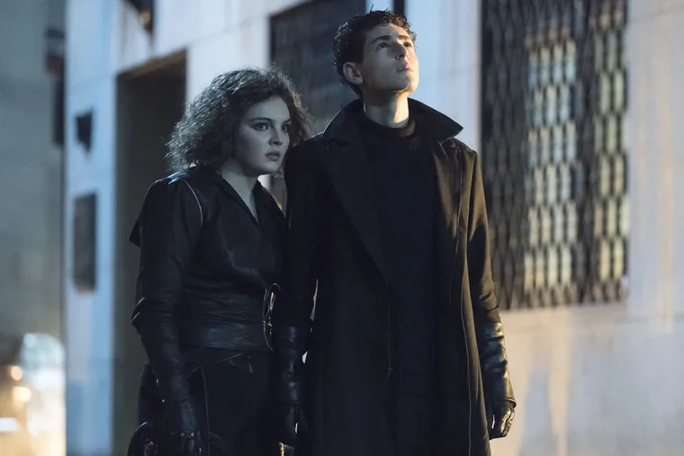 """Camren Bicondova as the young Selina Kyle and David Mazouz as Bruce Wayne in a scene from the Thursday, April 18, episode of Fox's """"Gotham,"""" which sets up the """"Batman"""" prequel's April 25 finale."""
