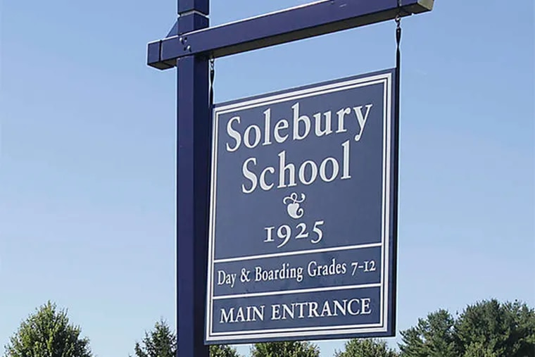 The Solebury School in New Hope has long been known as an alternative to rigid, New England-style boarding schools.