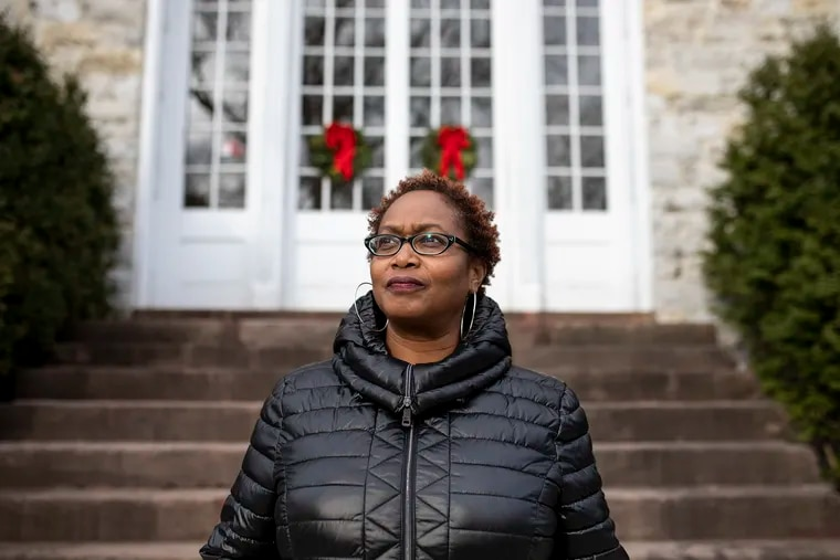 Jerry Philogene, associate professor for American Studies and Africana Studies at Dickinson College, poses for a portrait on campus in Carlisle, Pa.