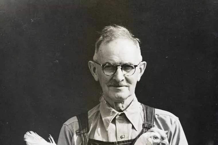 D.C.R. Hoff, commercial hatcheryman in NJ for 57 years, and poultryman cooperator in the NJ-US Poultry Improvement Plan. - October 1945, Neshanic, NJ - Credit: Courtesy of the New Jersey State Archives