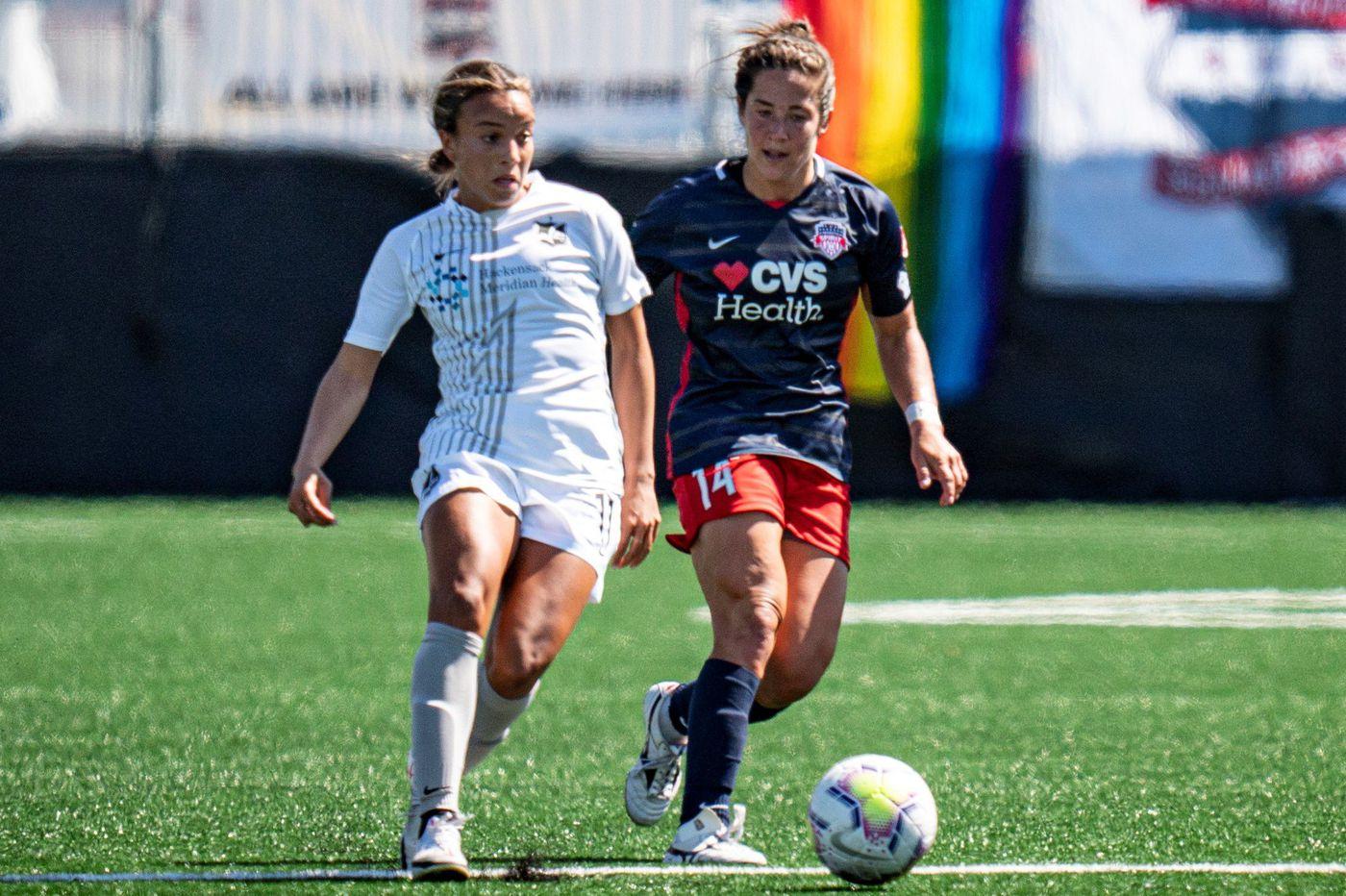 Mallory Pugh, Margaret Purce spark Sky Blue FC's 2-1 win over Washington Spirit in NWSL Fall Series opener