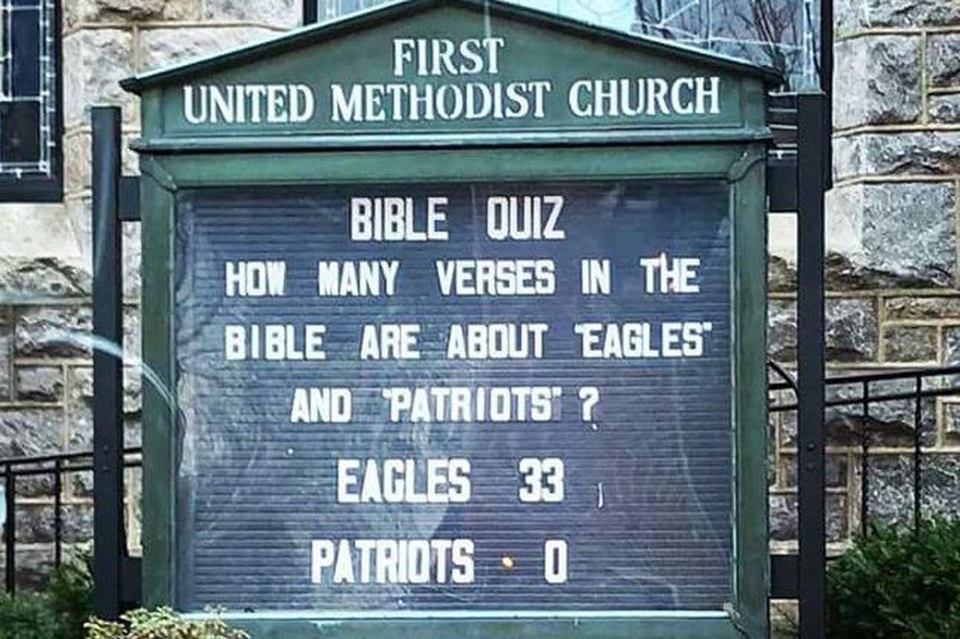 Does the Good Book have a good word for the Eagles?