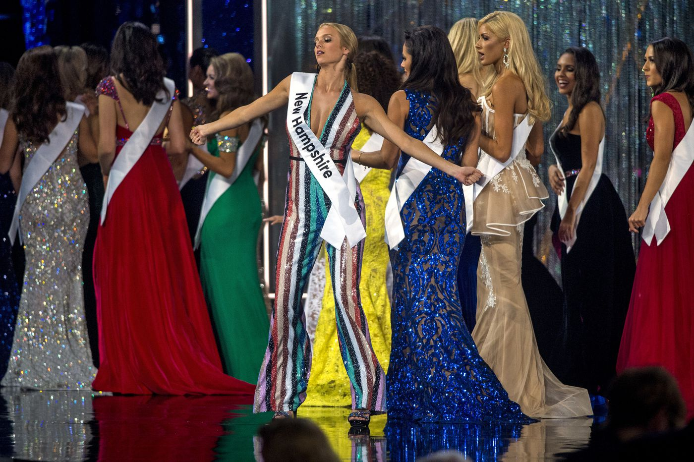 There she is, without a swimsuit: Miss America tries not to sink in Atlantic City