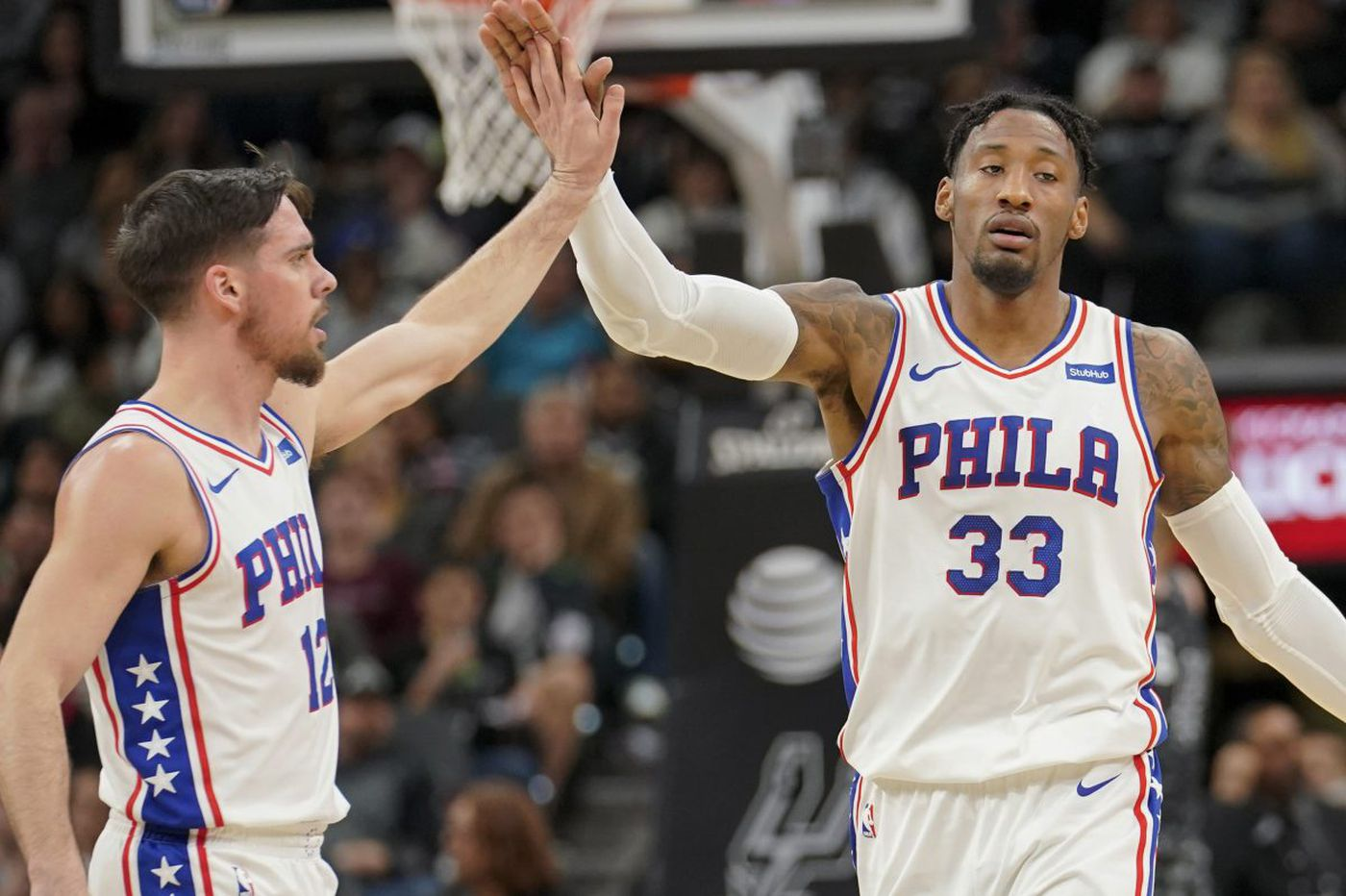 Balanced effort leads Sixers to 97-78 victory over Spurs
