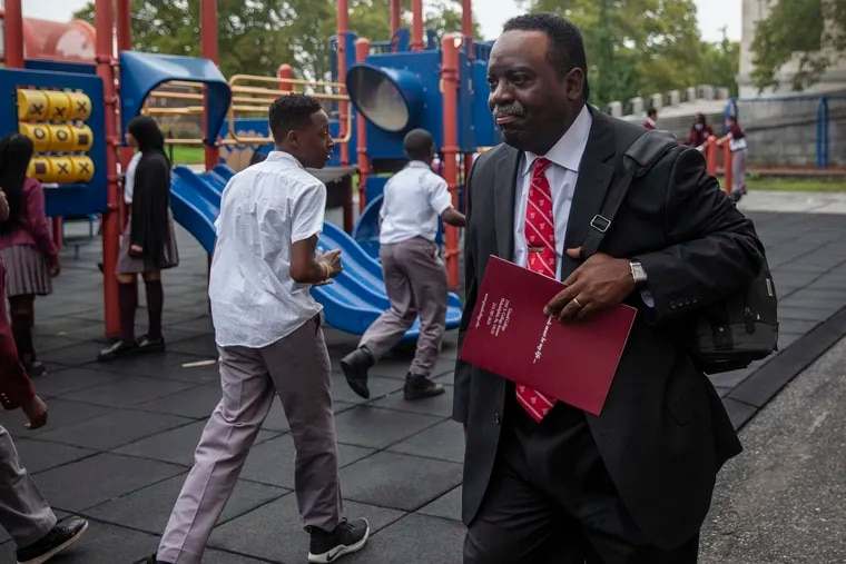 Owen Gowans III walks through a playground while visiting Girard Campus on Tuesday, Sept. 11, 2018. Gowans was one of the first four students to integrate Girard College, the Philadelphia boarding school. He returned to Girard College for a 50th anniversary celebration of the integration.