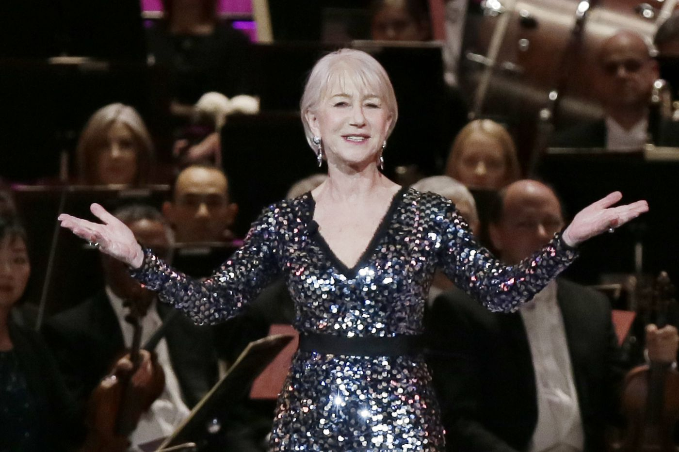 Helen Mirren dazzles at the Academy of Music 162nd Anniversary Concert