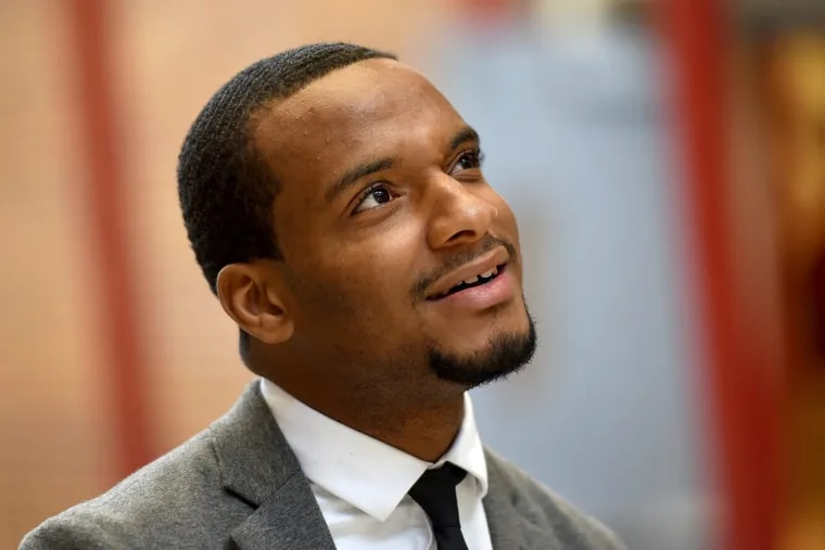 Hazim Hardeman is Temple University's first Rhodes Scholar ever. He is photographed on campus November 19, 2017, where he graduated in May with a degree in strategic communication. Before Temple, he attended Community College of Philadelphia. TOM GRALISH / Staff Photographer