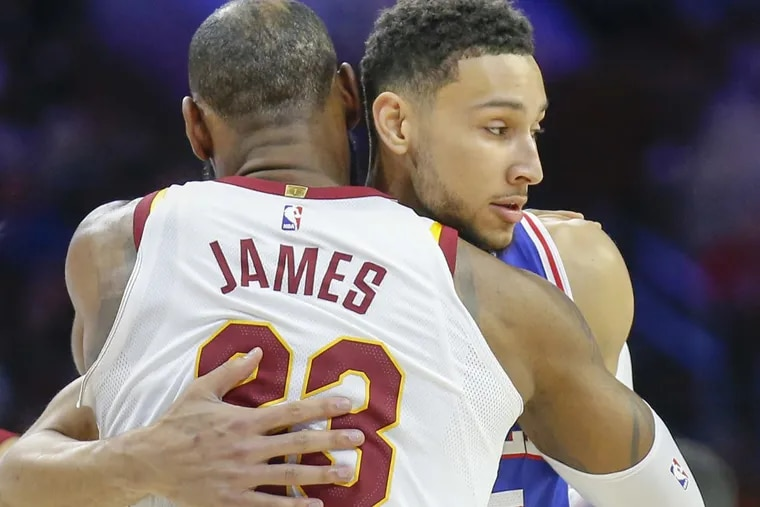 LeBron James and Ben Simmons in what should be the first of many meetings.