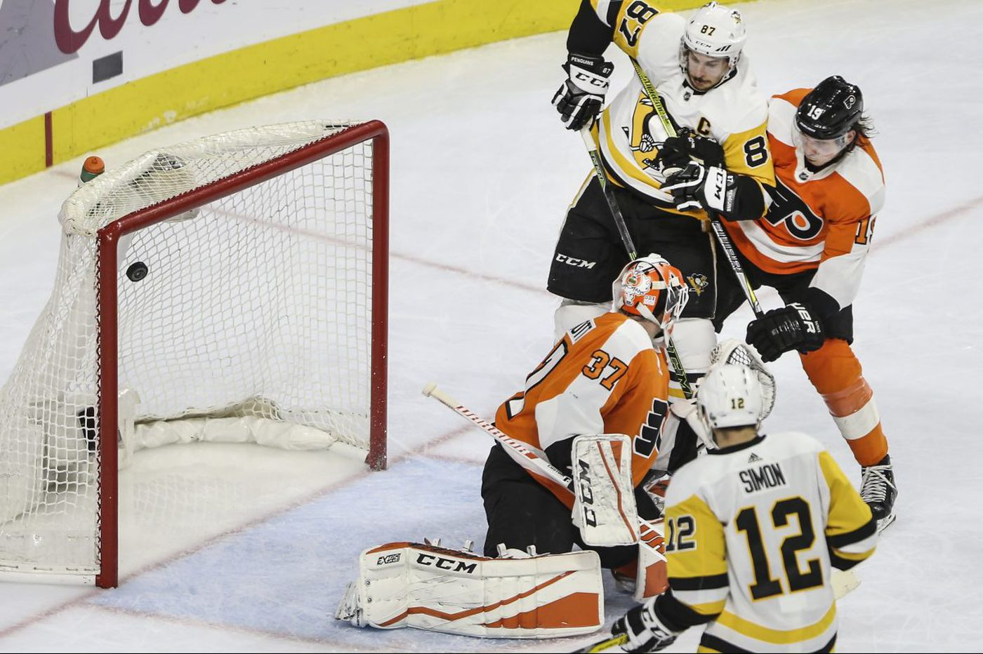 Flyers lose to Penguins, on brink of elimination from NHL playoffs