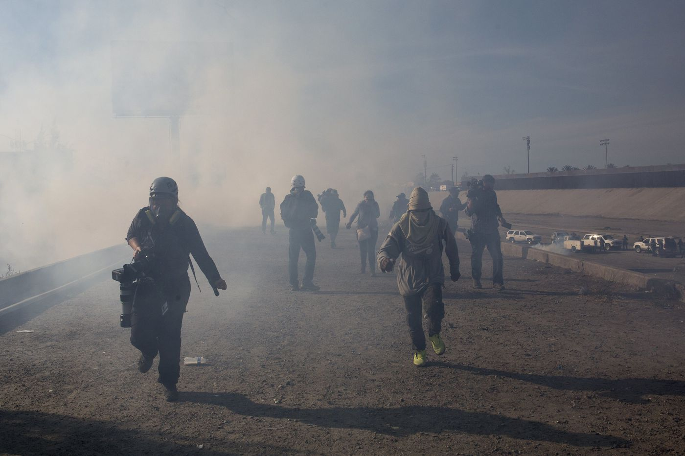 Trump backs use of 'very safe' tear gas on crowd of migrants