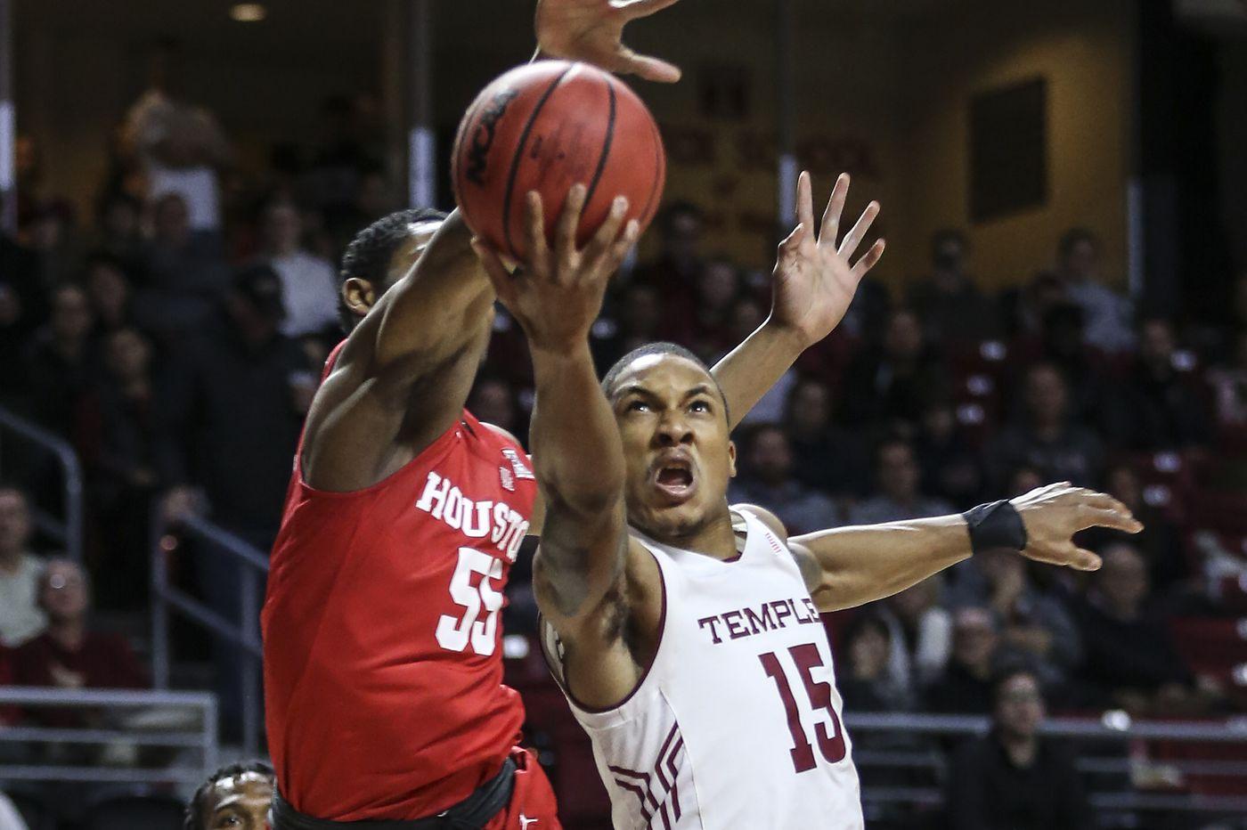 Temple holds on, upends unbeaten Houston