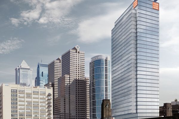 PMC pitching office tower on land near Schuylkill waterfront apartment complex
