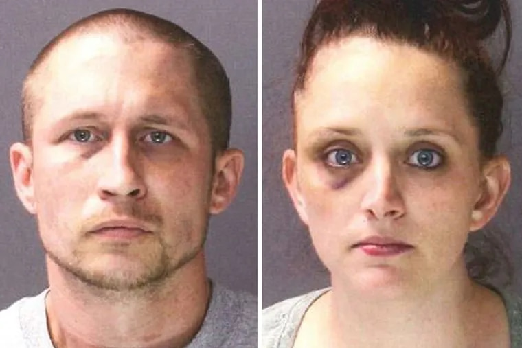 Michael Shales, left, and Melissa Shales, right, have been charged with  abusing their infant twins, who suffered numerous broken bones.