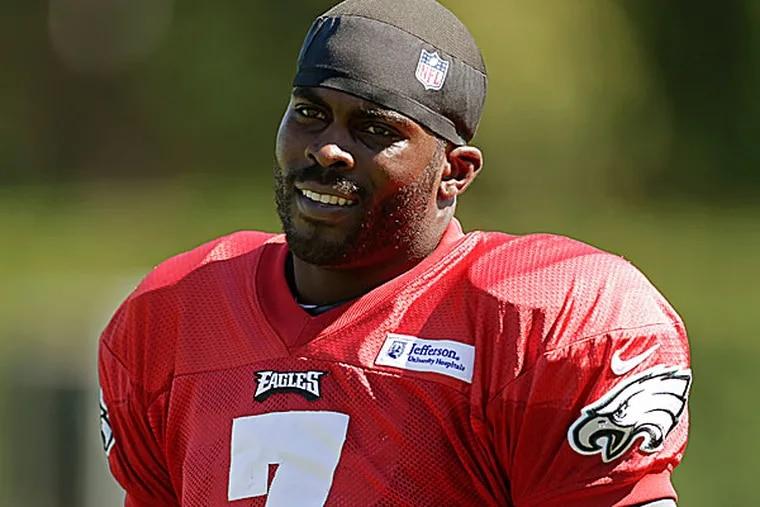 Eagles quarterback Michael Vick. (Matt Rourke/AP)