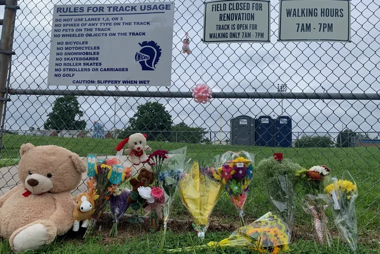 A memorial has sprung up at Academy Park High School's athletic complex in Sharon Hill in tribute to a 7-year-old girl who was fatally shot Friday night after the season-opener football game between Academy Park and Pennsbury.