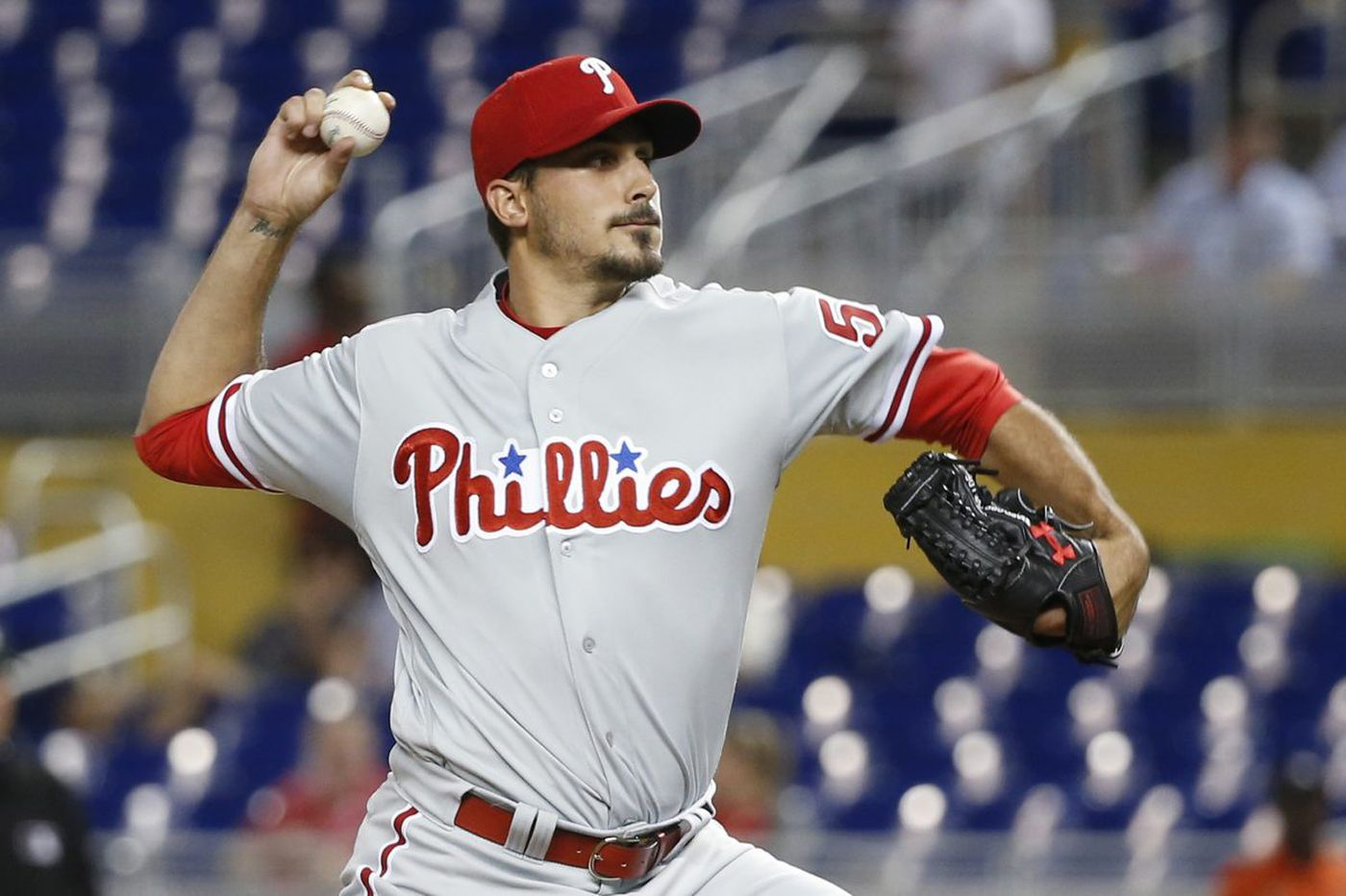 Phillies' bats silenced, Scott Kingery bruised in latest loss to Marlins