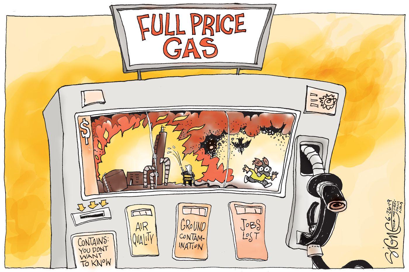 Political Cartoon: Refinery fire pricing