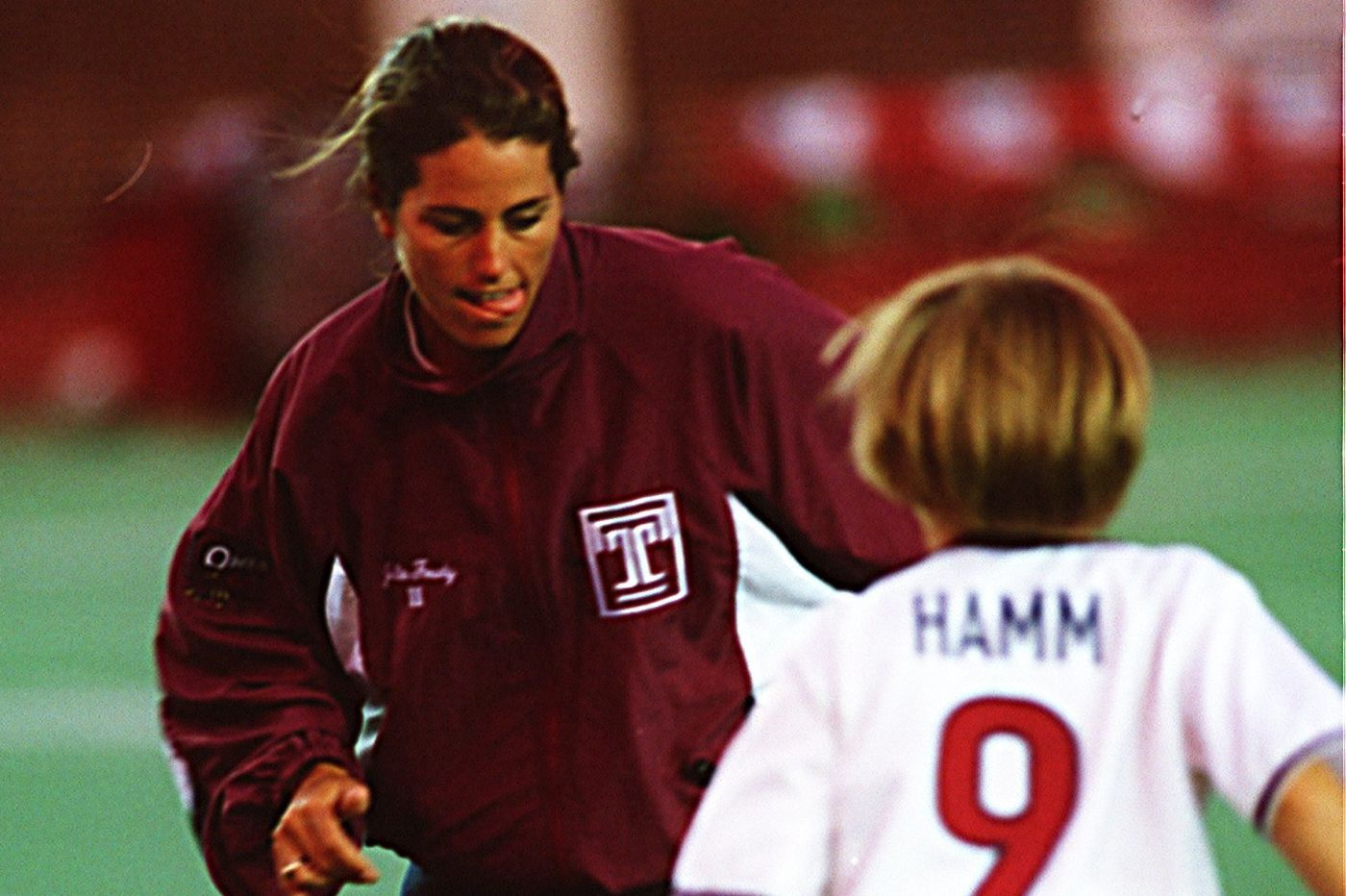 From our archives: When Mia Hamm, Kristine Lilly and Julie Foudy played soccer at a Temple football game