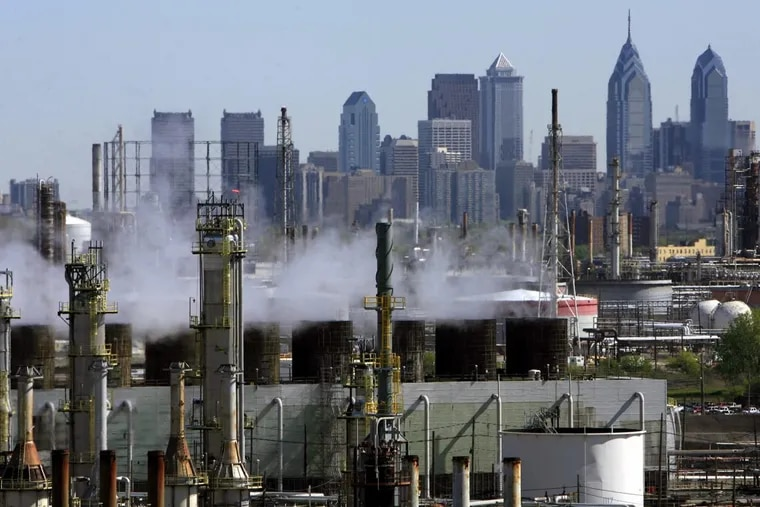 The Philadelphia Energy Solutions refinery in South Philadelphia, which has blamed its financial woes on the cost of complying with the federal ethanol mandate.