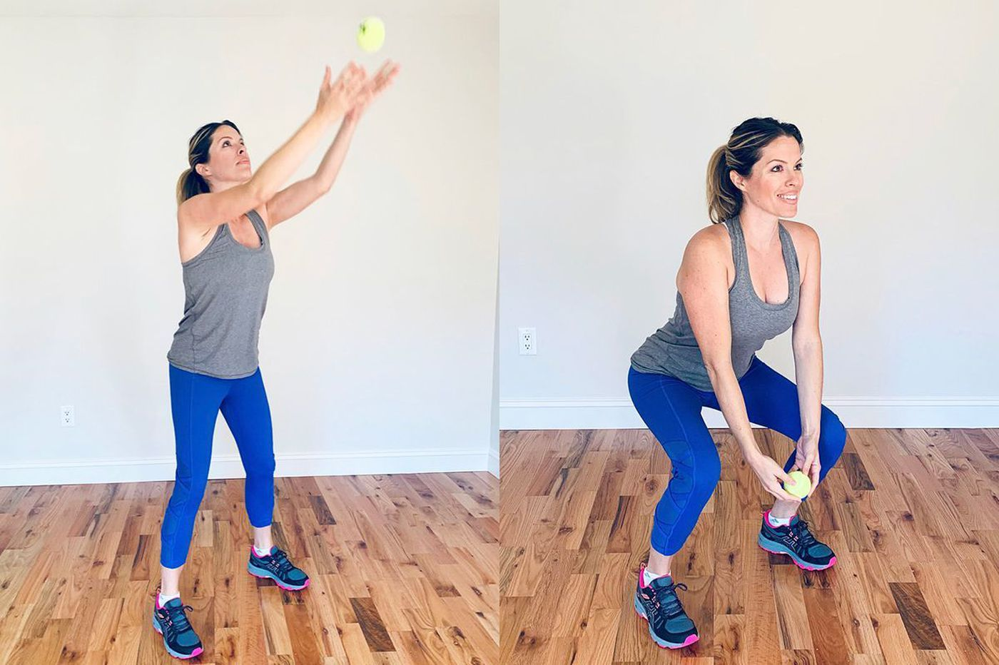 Transform your home into a gym using only a tennis ball