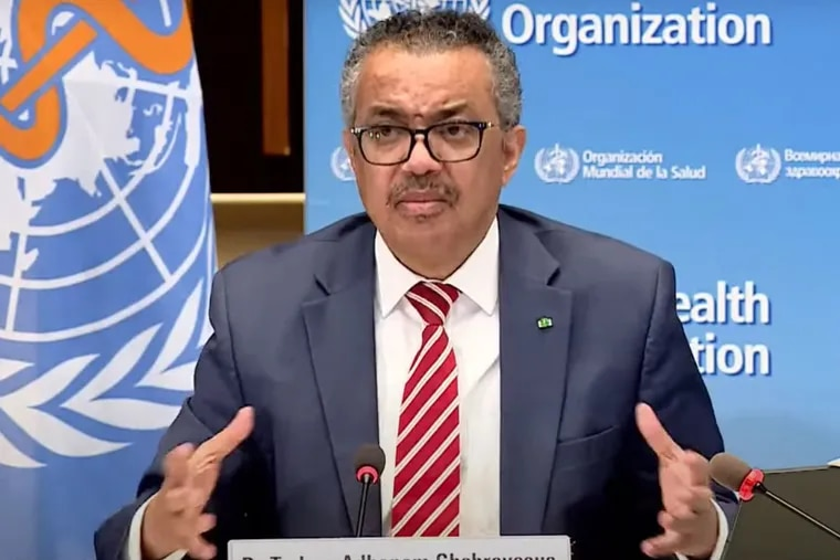 """A report on the origin of the coronavirus is """"an important beginning"""" but more study is needed, World Health Organization Director-General Tedros Adhanom Ghebreyesus said Tuesday to member nations."""
