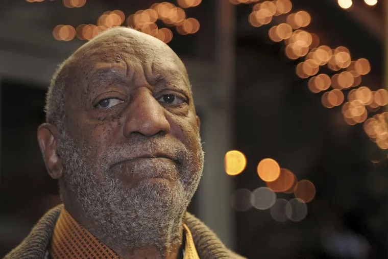 In this Wednesday, Jan. 10, 2018 photo, Bill Cosby pauses to talk to reporters as he leaves following a dinner at an Italian restaurant in Philadelphia.