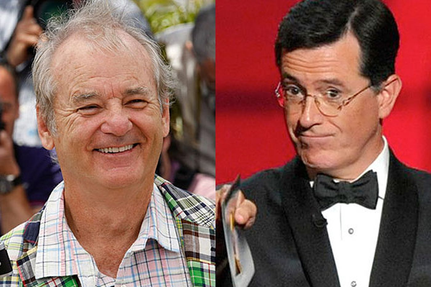 Sideshow: Bill Murray, Stephen Colbert: A Twitter hit and miss