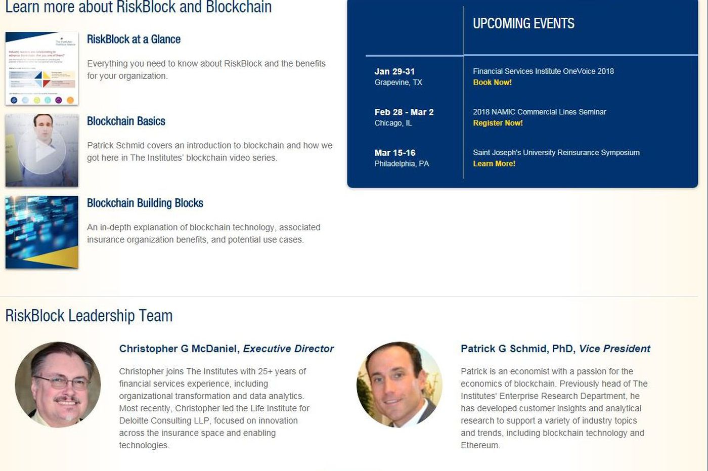 RiskBlock: Insurers want us in the blockchain