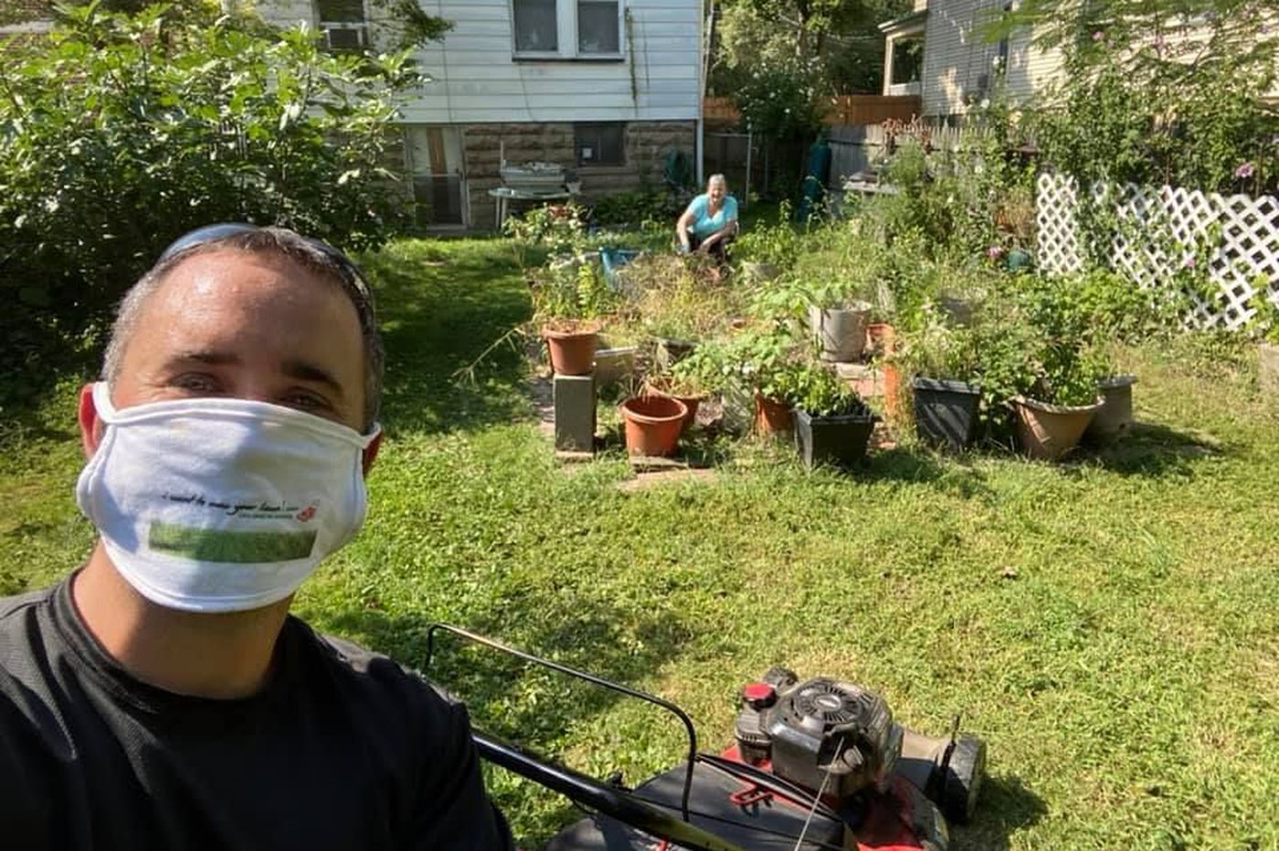 This New York exec got laid off in the pandemic, so he started mowing lawns. For free.