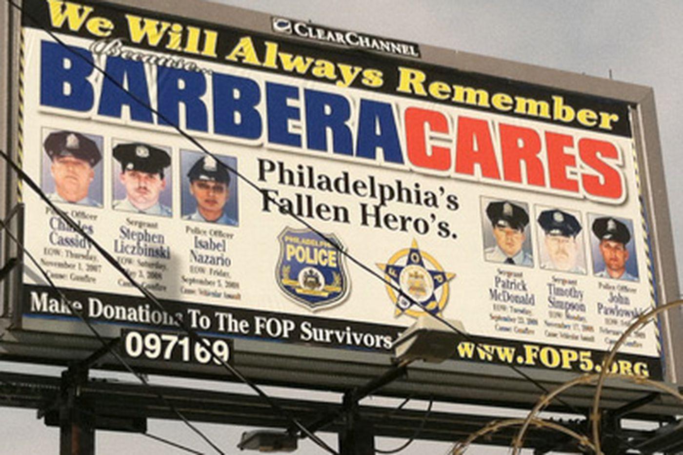 Barbera billboard ads subtracted goodwill